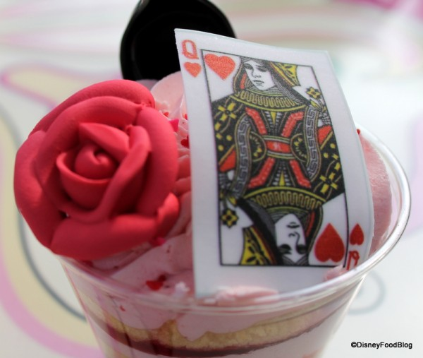 Toppings on the Queen of Hearts Strawberry Shortcake Cake Cup