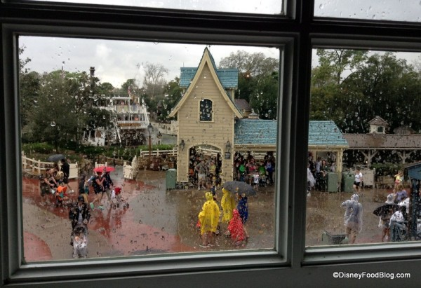 Rainy day at the Magic Kingdom