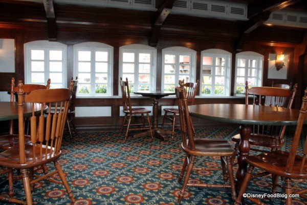 Upstairs seating in Columbia Harbor House