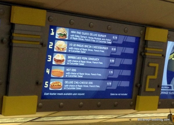 Cosmic Rays Bay 2 Menu