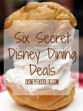 Six Secret Disney Dining Deals