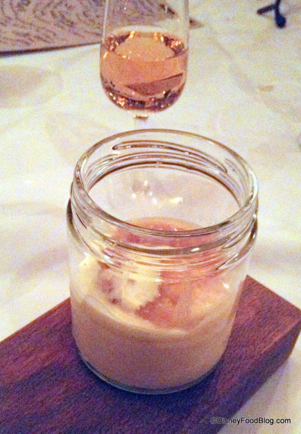 Creme Brulee Topped with Bread and Butter Pudding and Inniskillin Ice Wine