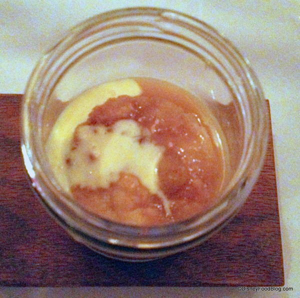 Creme Brulee Topped with Bread and Butter Pudding -- Up Close