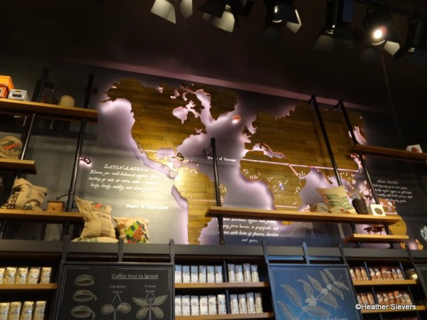 Light Up Coffee Sourcing Map