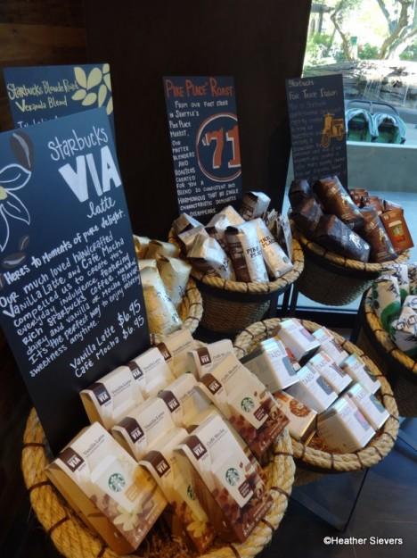 VIA, Teas & Coffee for Purchase
