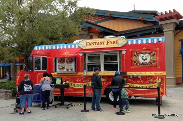 Fantasy Fare Food Truck next to World of Disney