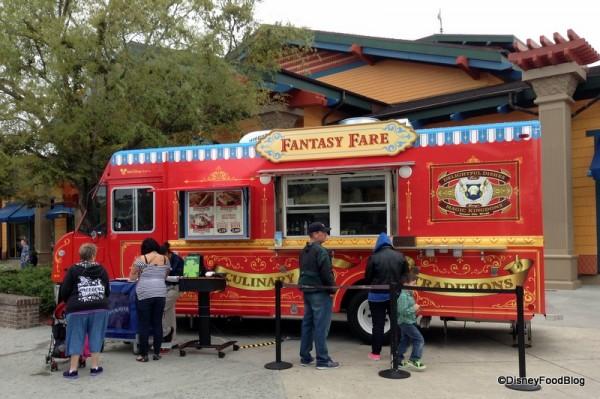 Fantasy Fare Food Truck next to World of Disney
