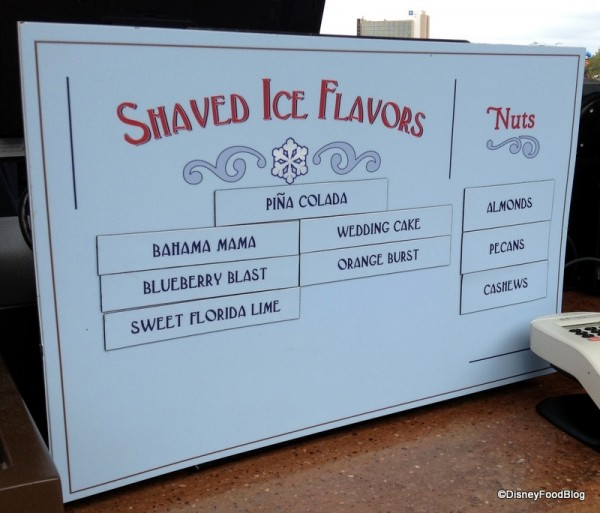 Downtown Snow Company Shaved Ice Flavors