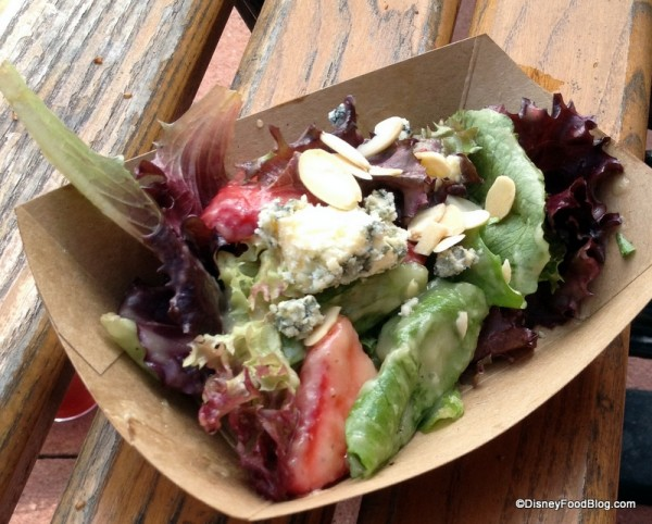 Field Greens with Plant City Strawberries, Toasted Almonds, and Farmstead Stilton