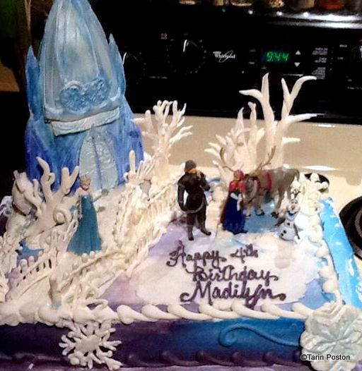 Frozen Birthday Cakes the disney food blog