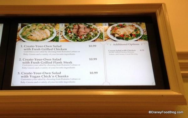 Gasparilla Grill Create-Your-Own Salad Menu