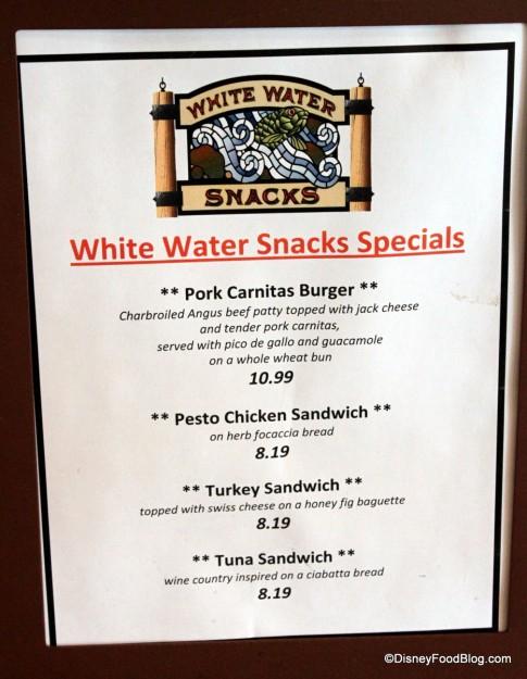 Hot Sandwich Specials