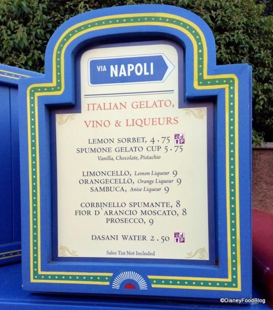 Italy Cart Menu