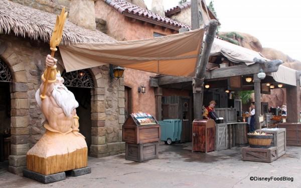 King Triton beside Prince Eric's Village Market