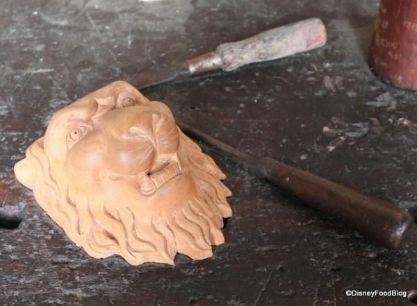 "Woodwork ""in progress"""