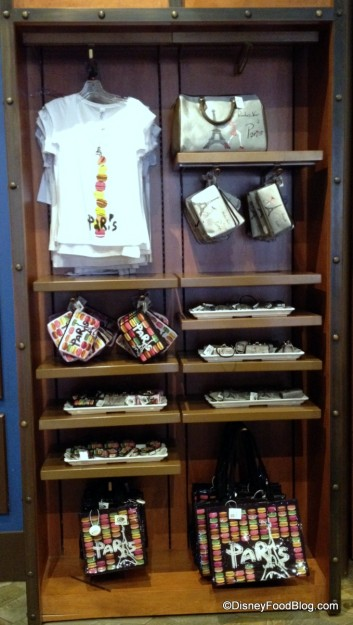 Macaron Merch Display in Epcot's France Pavilion!
