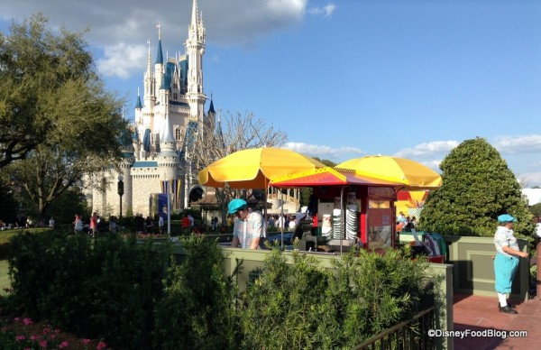 Current location of Main Street Popcorn Cart