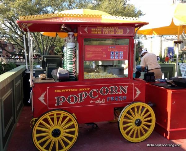 Current location of Main Street Popcorn Cart