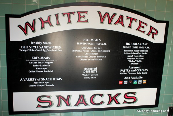 Menu Board -- Click to Enlarge