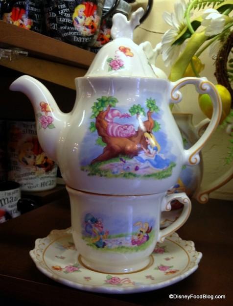 One cup Teapot, Teacup, and Saucer Set