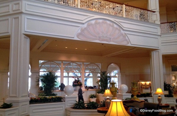 View of the Tea Room from the Lobby