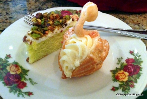 Pate a Choux Swan and Pistachio Cake