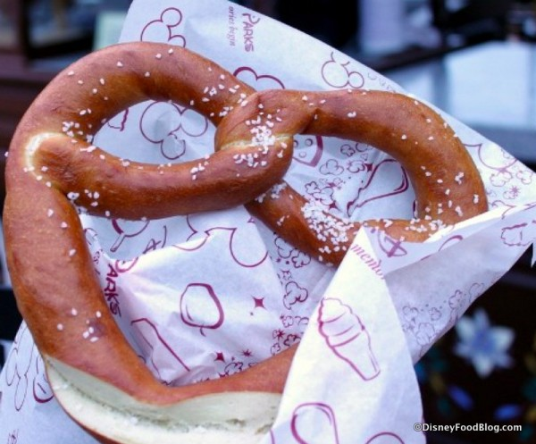 Hand-Twisted Pretzel in Epcot's Germany