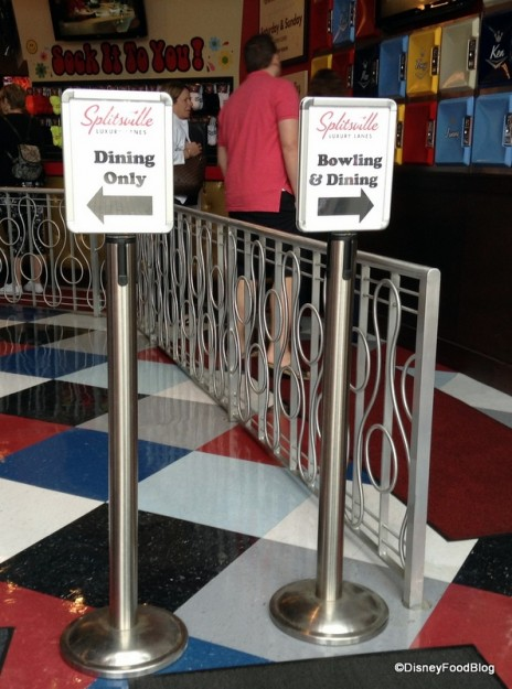 Splitsville entrance