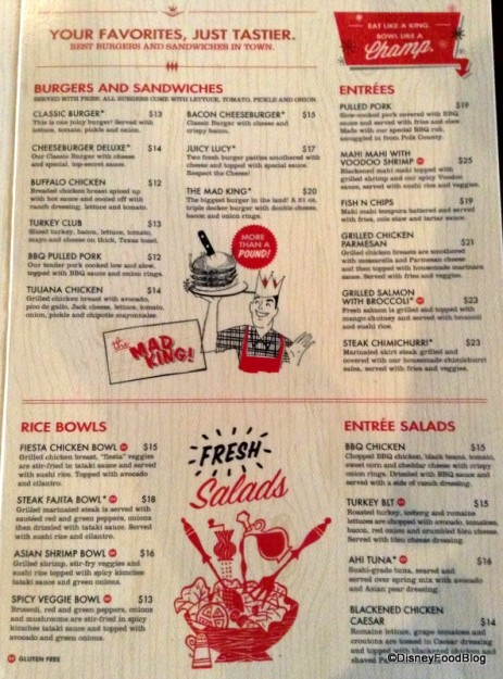 Splitsville Orlando Menu -- click to enlarge