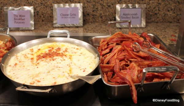 Cheese grits and bacon