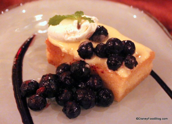 Toasted Lemon Pound Cake with Marinated Blueberries
