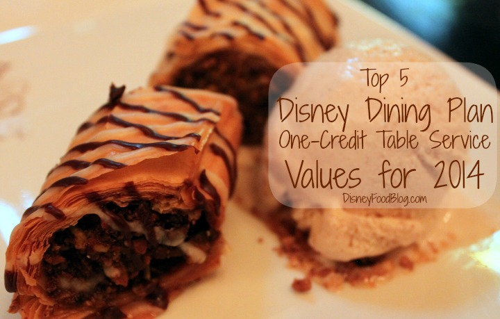 disney dining plan table service
