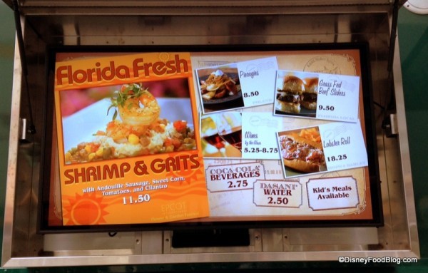 Florida Fresh Outdoor Kitchen Featured on the World Showcase of Flavors Food Truck Menu