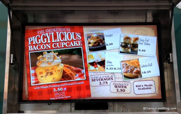 For Now, You Can Grab a Piggylicious Cupcake at Downtown Disney's World Showcase of Flavors Food Truck!