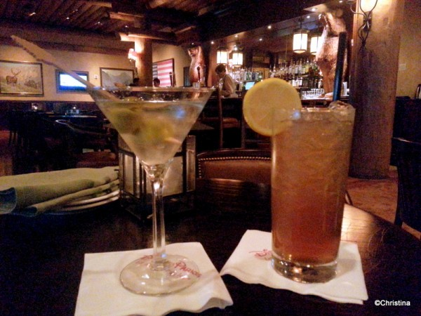 Olive Truffle Martini and Ultimate Long Island Iced Tea