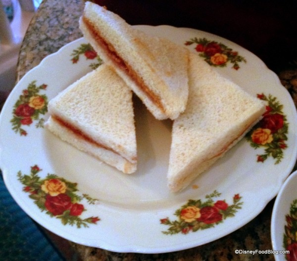 Peanut Butter and Jelly Tea Sandwiches