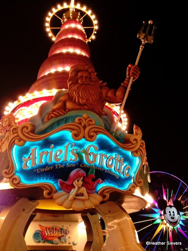 854678a25296 Dining in Disneyland  Dinner and Updated Menu Review at Ariel s Grotto in  Disney California Adventure