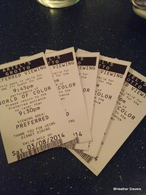 World of Color Tickets