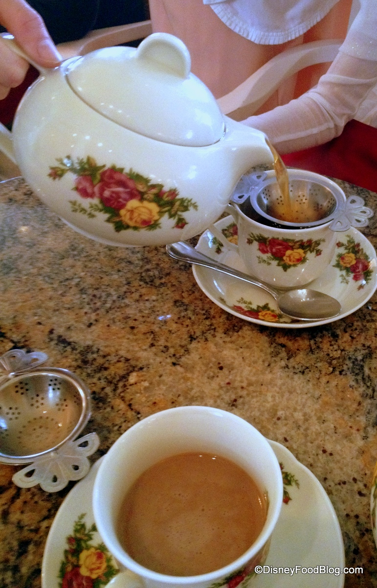 Pouring tea and special dark tea