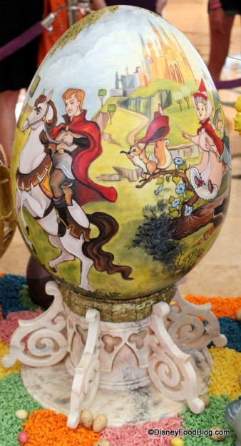 "Back of ""Sleeping Beauty"" Egg"