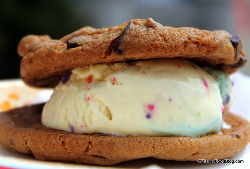 Review Birthday Cake Ice Cream Cookie Sandwich at Disney