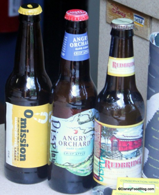 Bottles of Gluten-Free  Beer and Cider Available