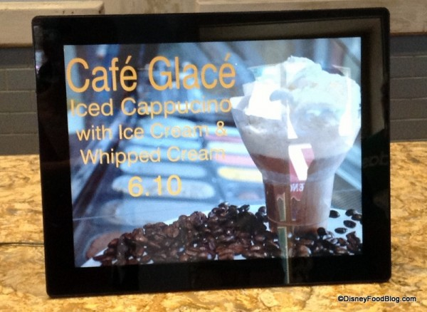 Cafe Glace sign