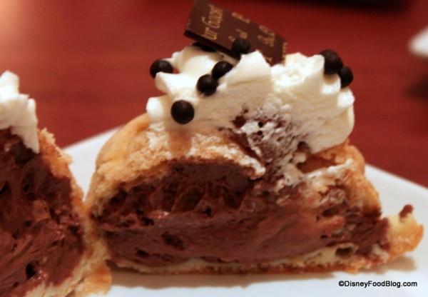 Chocolate Cream Puff -- Cross Section