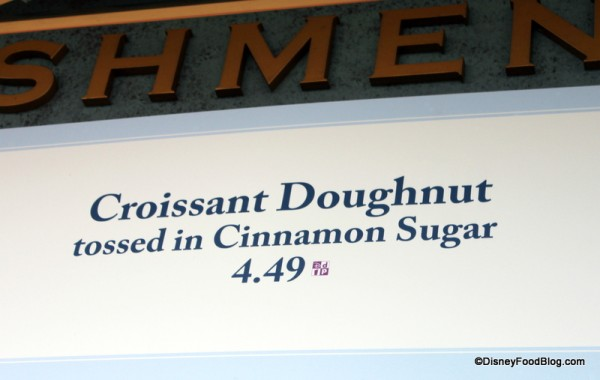Cronut Menu Sign