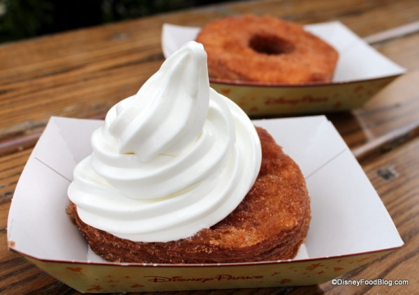 Cronut a la mode and regular cronut