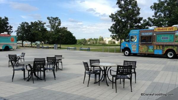 Tables near Food Trucks