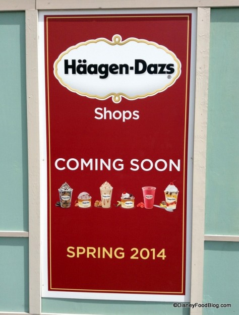 Haagen Dasz construction sign