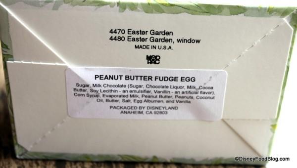 Easter Egg Ingredients