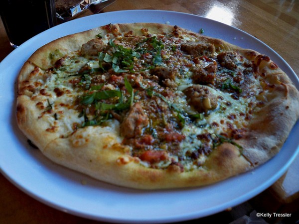 Meatball Pizza from Wolfgang Puck Express